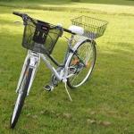 白 自転車