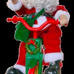 自転車に乗るサンタクロース